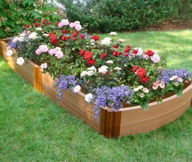 Raised Bed Flower Garden Design