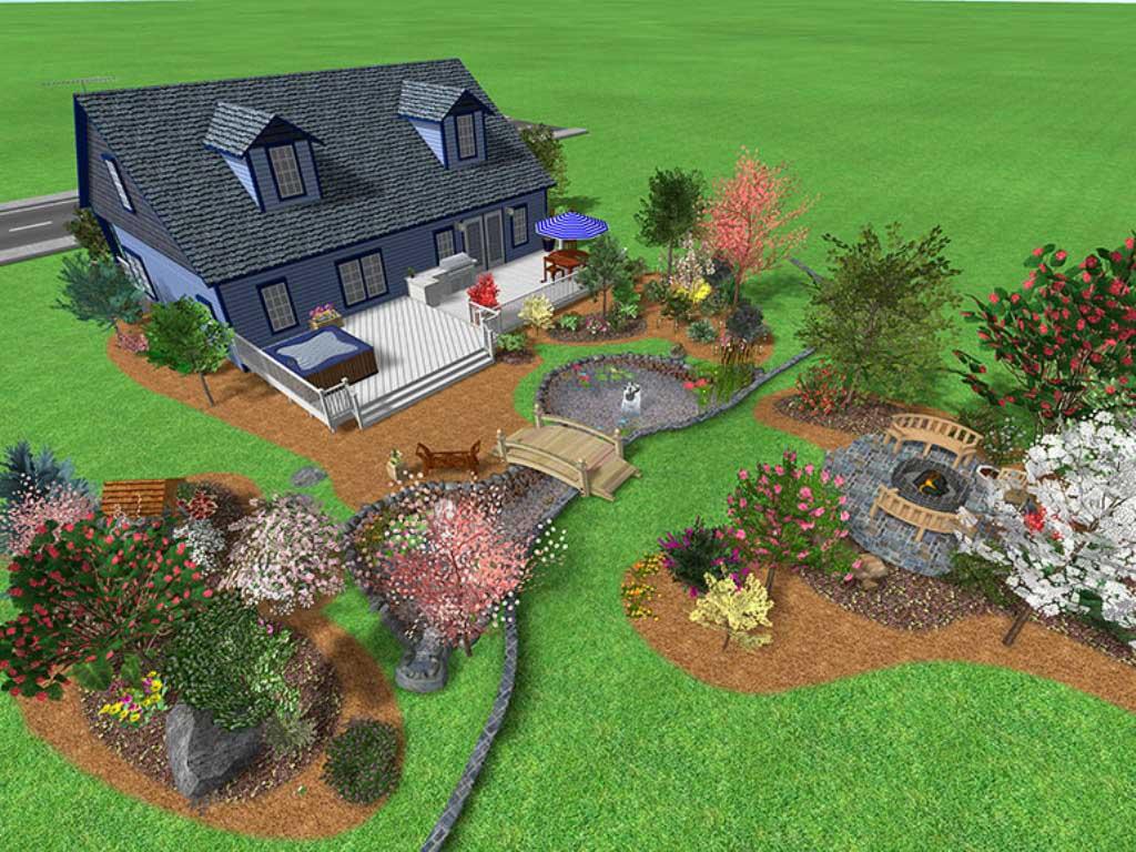 front yard landscaping design and plans with garden homescorner com