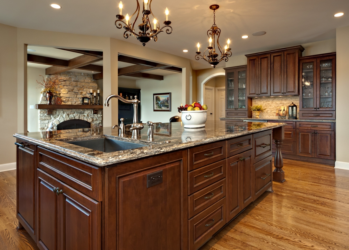 Allow Extra Room For Dining With A Large Kitchen Islands