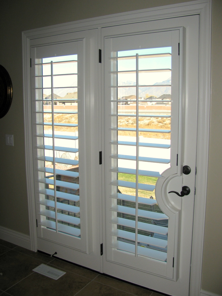 Shutters for French Doors Practical Way to Dress Your French Door  HomesFeed