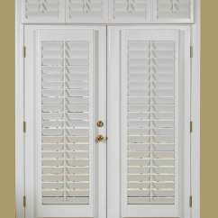 Small Storage Unit For Living Room Painting Ideas With Brown Furniture Shutters French Doors: Practical Way To Dress Your ...