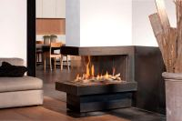 Creative Modern 3 Sided Gas Fireplace Design | HomesFeed
