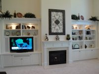 Built-In Cabinets around Fireplace, Give Special Accent to ...