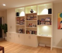 Wall Units with Desk and Bookcase plus Cabinets