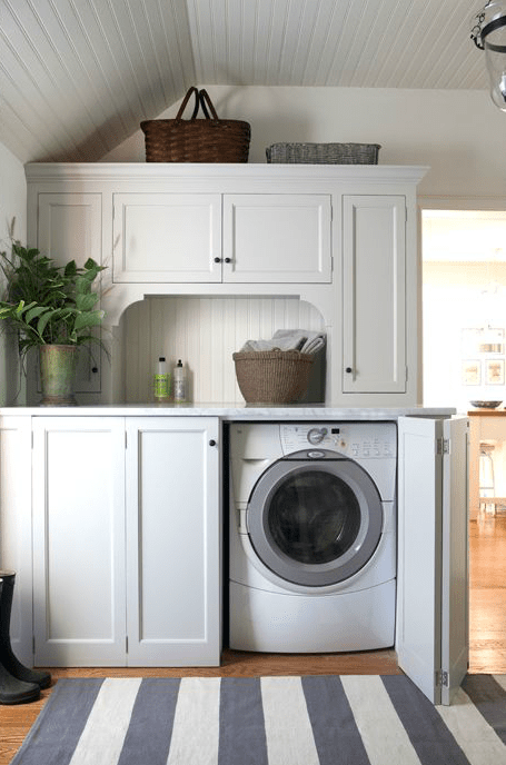 Modern Design of Washer and Dryer Cabinet