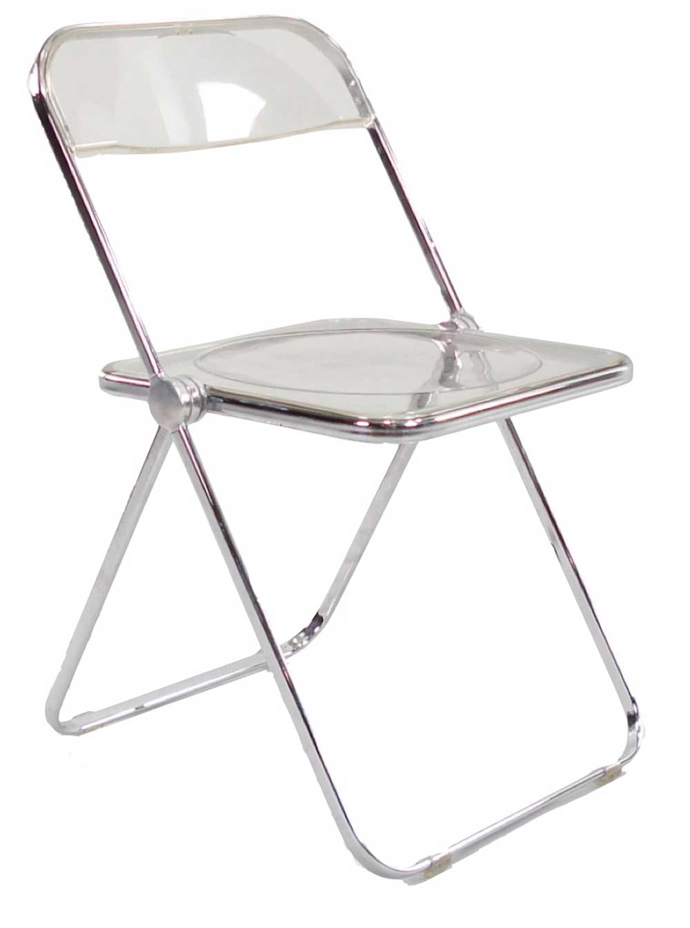 Lucite Folding Chairs Afford Extra Comfort and Space