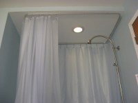 Types of Ceiling Mount Shower Curtain Rod | HomesFeed
