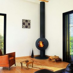 Images Of Living Rooms With Wood Burners Small Open Room And Kitchen Ideas Corner Burning Stove Functional Interior Beautifier Unique Modern In Black Some Logs An Arm Chair