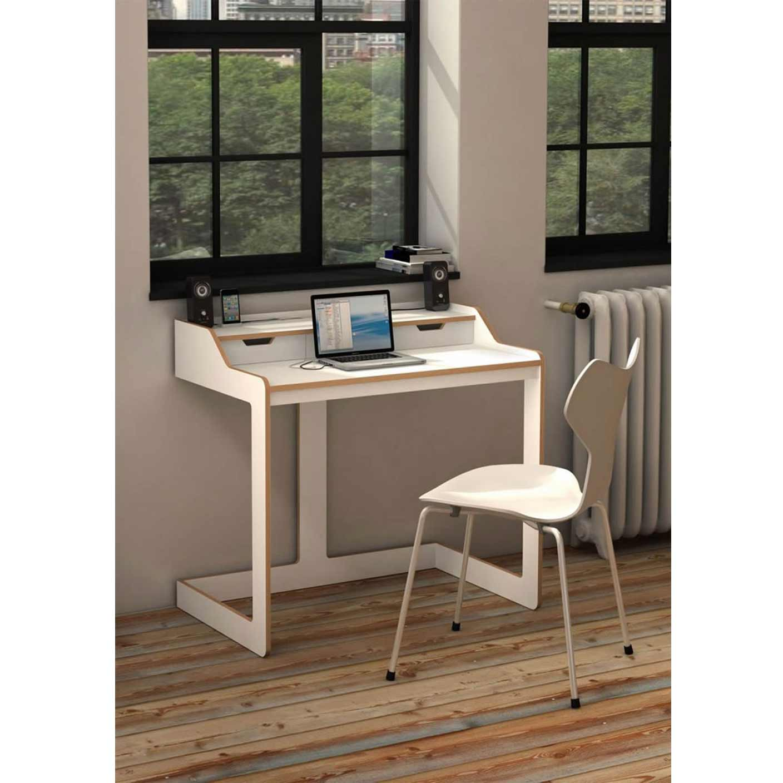 Slim Computer Desk with Huge Variants of Design  HomesFeed