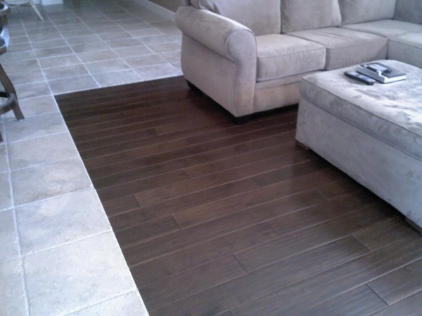 Wood and Tile Floor Transition