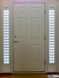 Sidelight Window Treatments on the Main Entry Doors ...