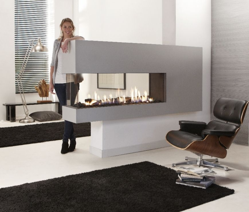 living room furniture melbourne australia wooden units creative modern 3 sided gas fireplace design | homesfeed