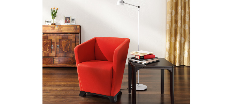 club chairs for small spaces best rocking chair nursery reading tiny private houses and micro elegant red with black wood side table a pile of book collections