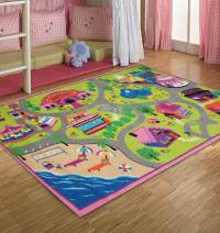 Colorful Design of Kids Rug for Small Room