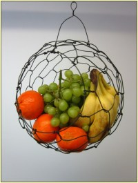 Wall Mounted Fruit Basket Inserts the Interior Stylishly ...