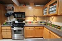 Mid Century Modern Kitchen Cabinet Shows Elegant ...