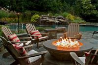 Extraordinary Patio with Fire Pit Concept for Big House