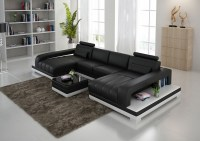 Leather Chaise Sectional Sofa Dark Brown Leather Sectional ...
