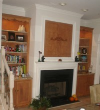 Various Samples of Built in Cabinet Around Fireplace ...