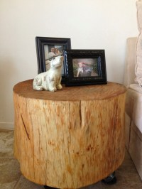 How to Make a Handmade Natural Tree Stump Side Table ...