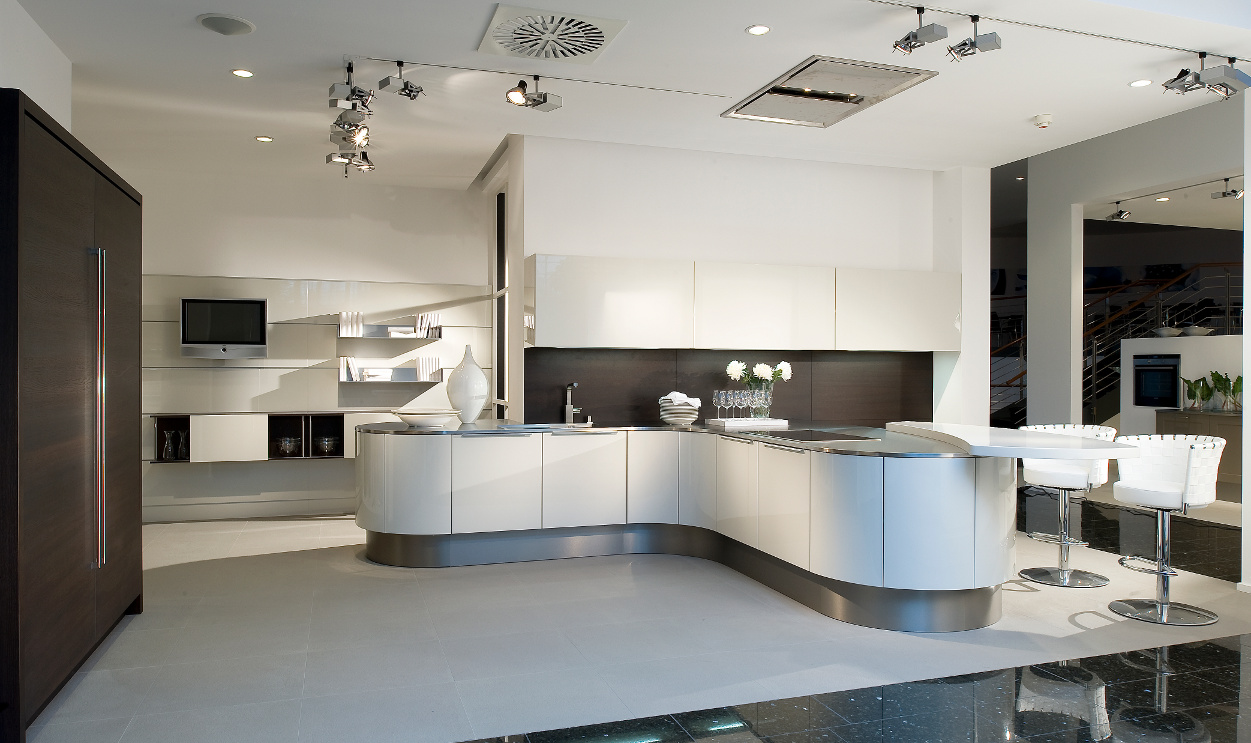 The Curved Kitchen Island The Great Combinations Between