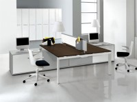 Unique Style: Two Sided Desk Offers Togetherness in ...