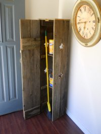 simple broom closet with shelves  Roselawnlutheran