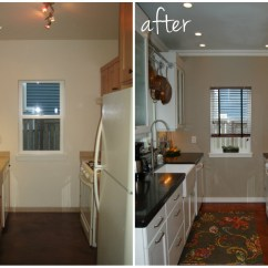 Remodel Small Kitchen Cabinet Outlet Before And After For Stunning
