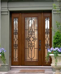Brown Front Door. Fabulous Engaging Images Of Front Porch ...