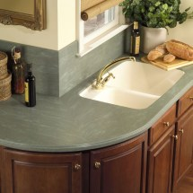 Creative Kitchen Counter-top Design Disguises Cost