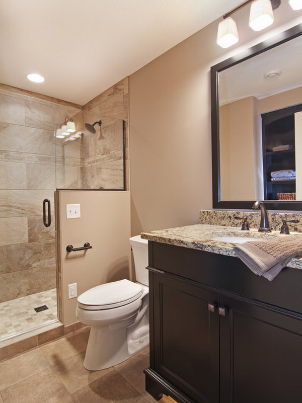 Accessible Basement Bathroom Ideas with Tasteful and Less