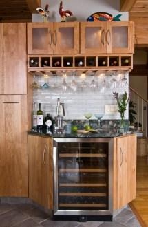 Corner Bar Cabinet Wine Rack