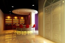 Wine Bar Counter Design