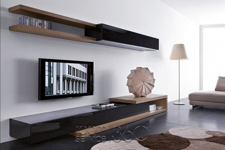 Creative Low Profile Media Console For Small Living Room