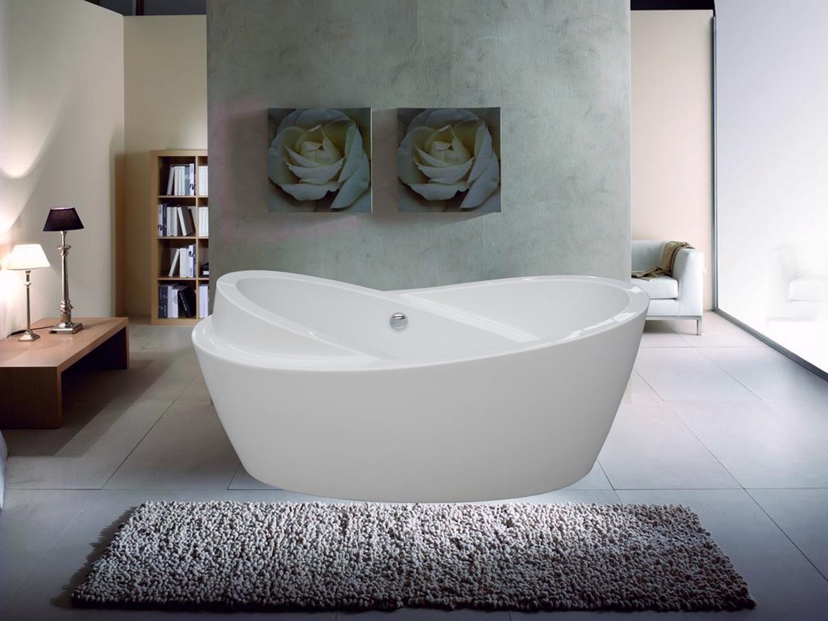 Efficient Bathroom Space Saving with Narrow Bathtubs for