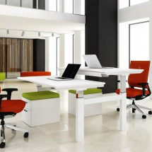 2 Person Desk Simple Solving Problem Small Office