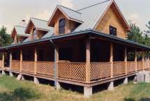 Log House Plans with Wrap around Porches
