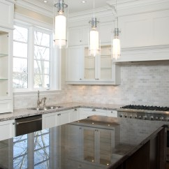 White Kitchen Cabinets And Backsplash Island Table With Chairs Ideas Homesfeed