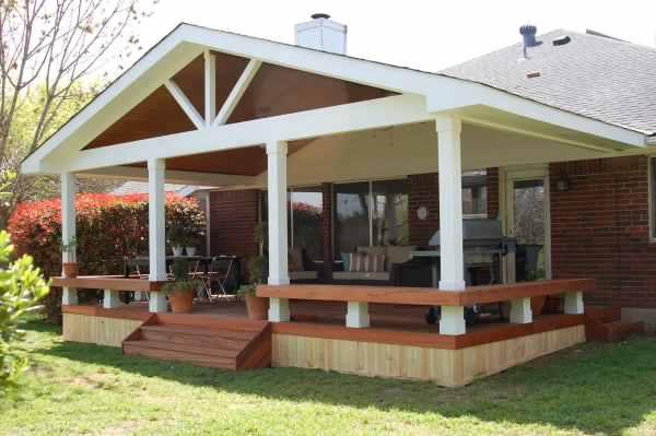 Covered Deck Idea Patio Design
