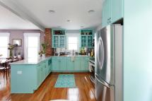 Turquoise Kitchen Cabinets Styles Homesfeed