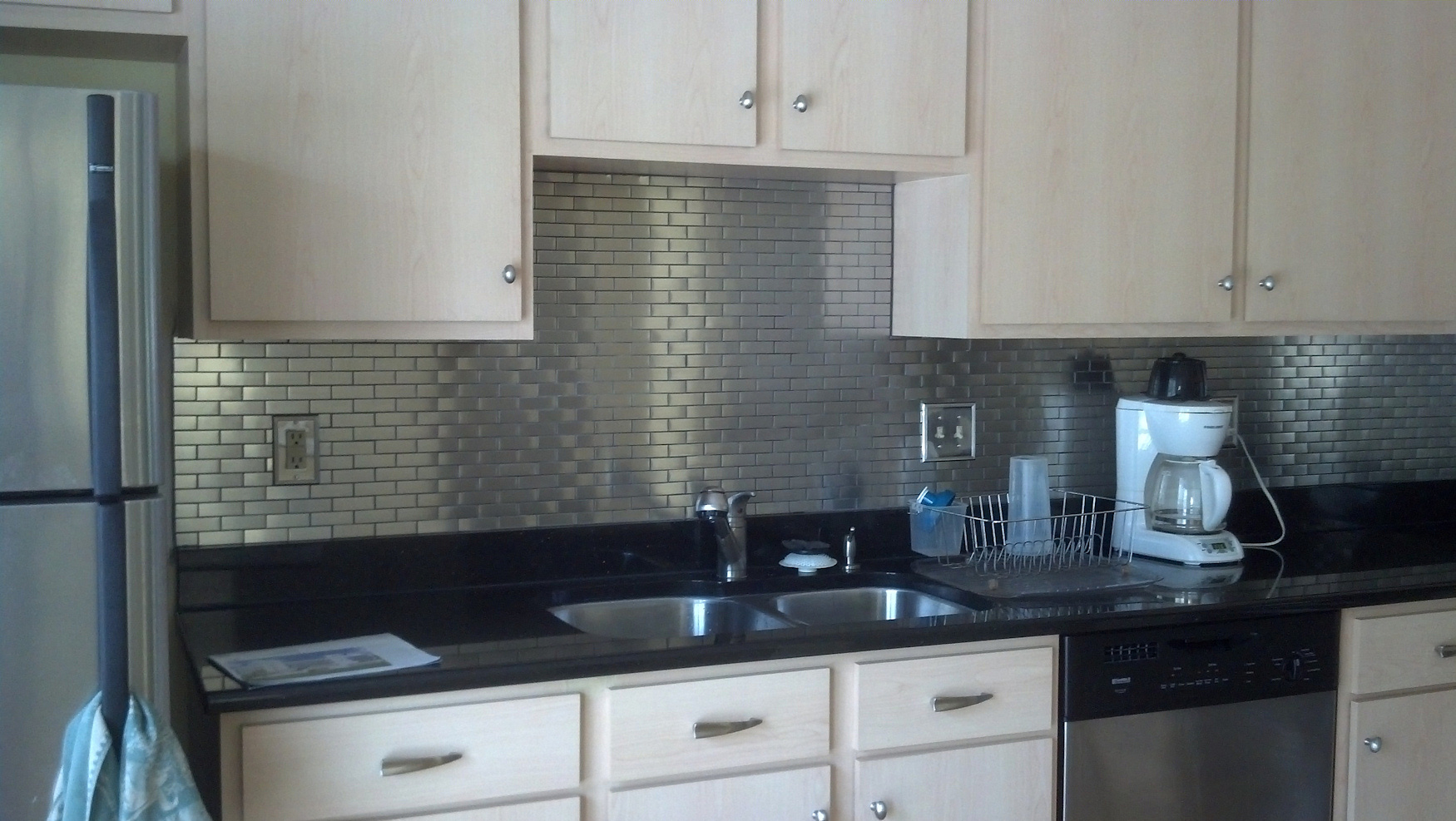 black and white tile kitchen backsplash interior design ikea stainless steel the point pluses homesfeed