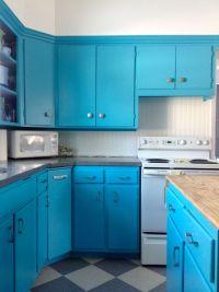 98+ Turquoise Blue Kitchen Cabinets - Blue Kitchen ...