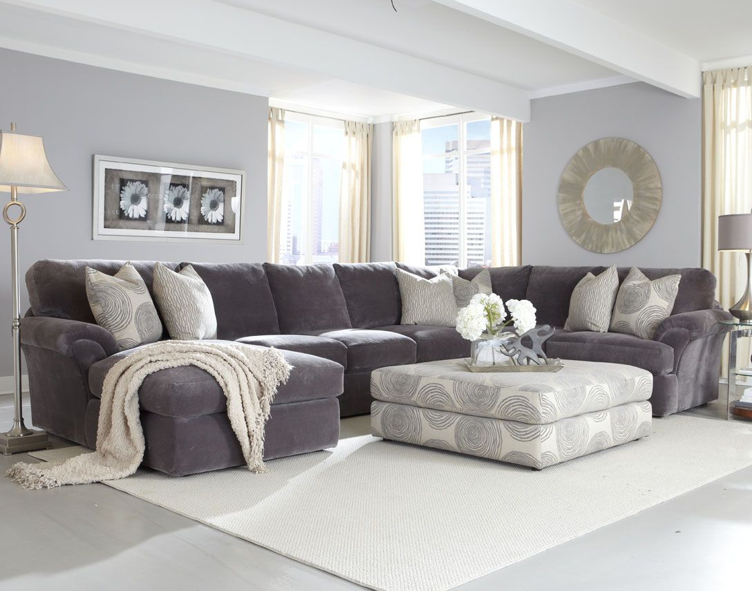 grey sectional sofa ideas vine ebay with ottoman living room best site