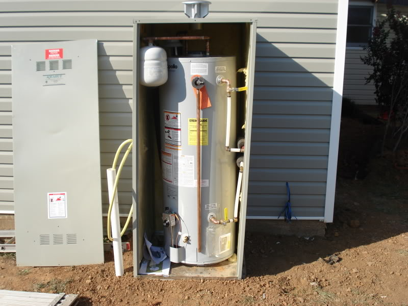 Outdoor Water Heater Enclosure To Protect And Maintain Its