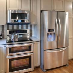 Refrigerator For Small Kitchen White Trash Can Complete Your With Double Wide