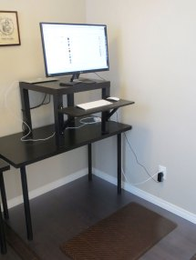 Working With Ikea Stand Desk Face Job Powerfully
