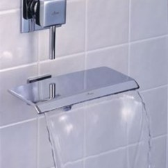 Kitchen Faucets Stainless Steel Electrical Outlets Waterfall For Tub That Carry Out The Elegance And ...