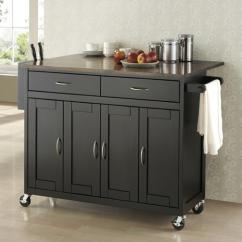 Kitchen Cart On Wheels Stores Online With Homesfeed Elegant Black Stained Wood Storage System And