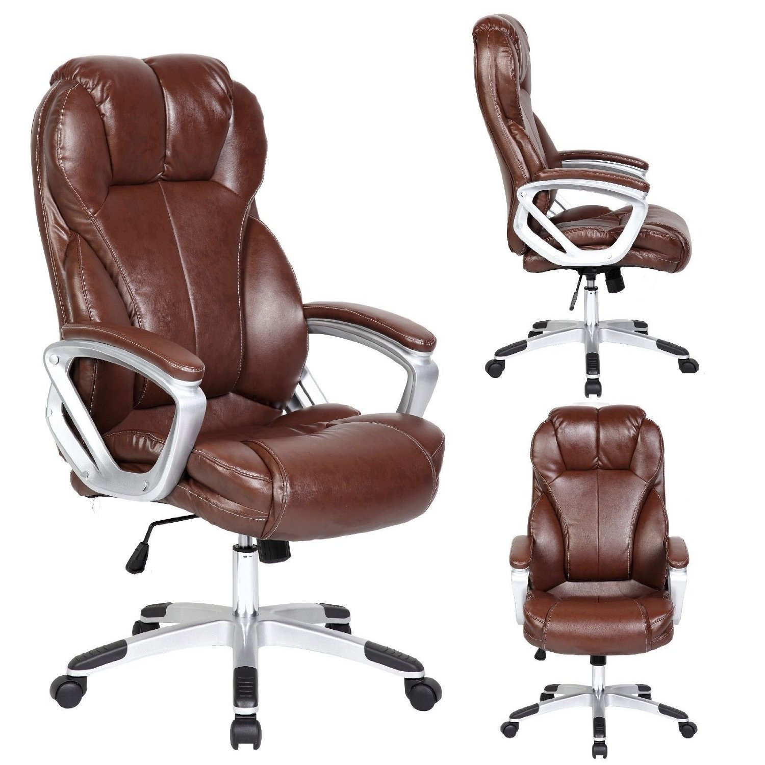 desk chair brown leather inexpensive dining room chairs 3 best affordable office under 100 homesfeed