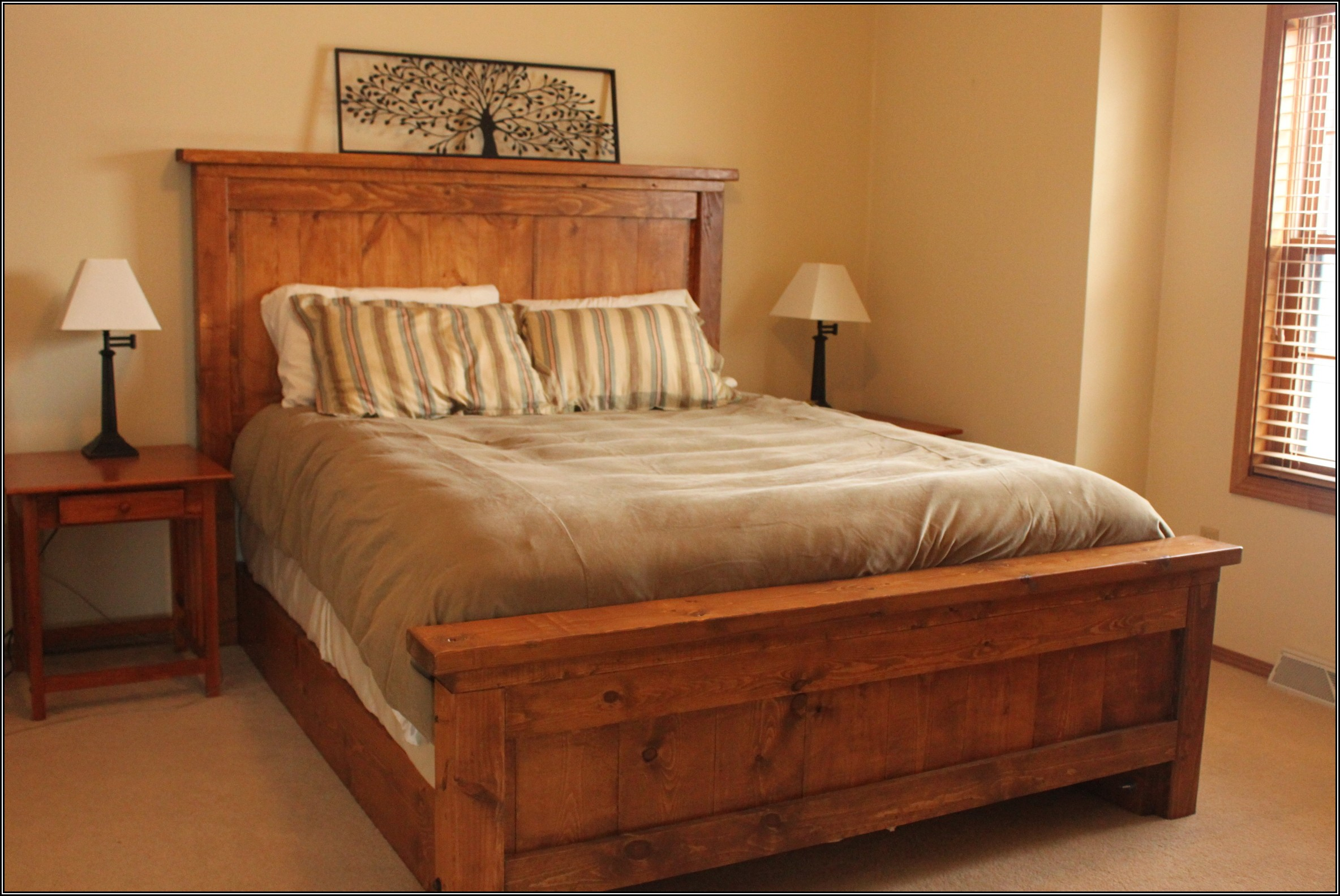 Simple Wood Bed Frame Ideas